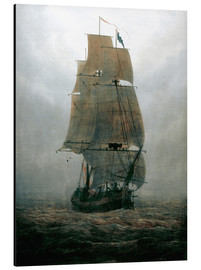 Aluminiumtavla  Sailing ship in the fog - Caspar David Friedrich