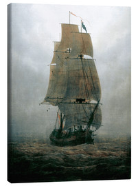Canvastavla  Sailing ship in the fog - Caspar David Friedrich
