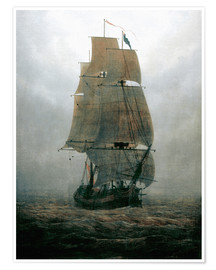 Premiumposter  Sailing ship in the fog - Caspar David Friedrich