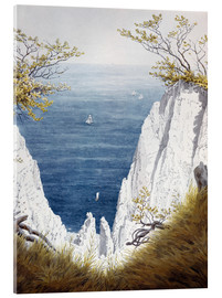 Akrylglastavla  Chalk cliffs on Rugen island - Caspar David Friedrich