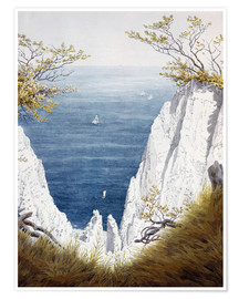Premiumposter  Chalk cliffs on Rugen island - Caspar David Friedrich