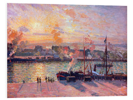 PVC-tavla  Sunset at Rouen - Camille Pissarro