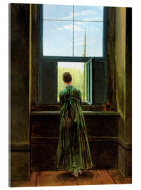 Akrylglastavla  Woman at the Window - Caspar David Friedrich