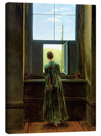 Canvastavla  Woman at the Window - Caspar David Friedrich