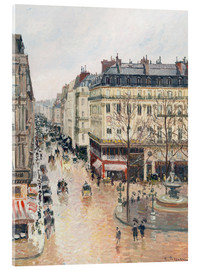 Akrylglastavla  The Rue Saint-Honoré in the afternoon - Camille Pissarro