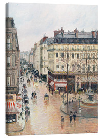 Canvastavla  The Rue Saint-Honoré in the afternoon - Camille Pissarro