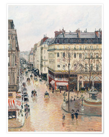Premiumposter  The Rue Saint-Honoré in the afternoon - Camille Pissarro