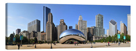 Canvastavla  Panorama Millenium Park i Chicago mit Cloud Gate - HADYPHOTO