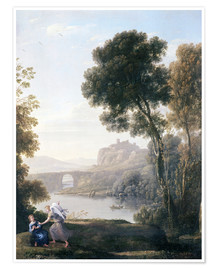 Premiumposter Landscape with Hagar and the Angel