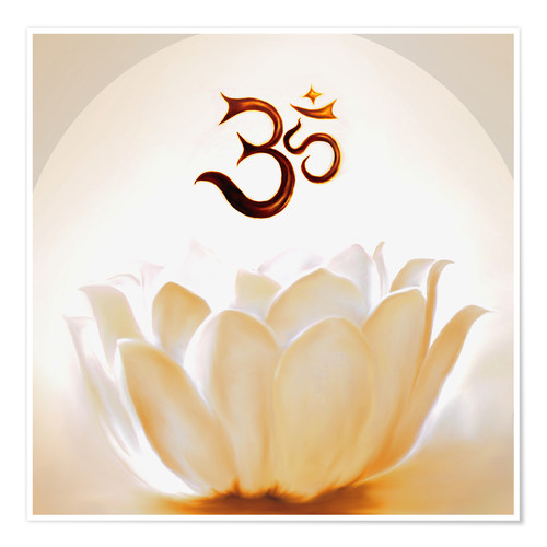 Premiumposter Lotus with Om