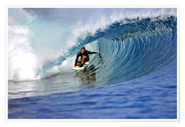 Premiumposter  Surfing blue paradise island wave - Paul Kennedy