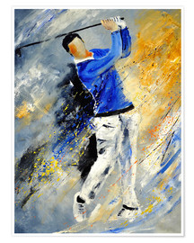 Premiumposter  Golf player - Pol Ledent