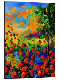 Aluminiumtavla  Field of poppies - Pol Ledent