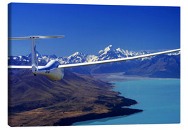 Canvastavla  Glider over Lake Pukaki - David Wall
