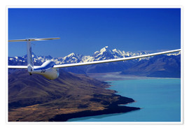 Premiumposter Glider over Lake Pukaki