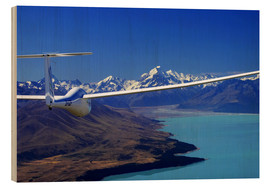 Trätavla  Glider over Lake Pukaki - David Wall