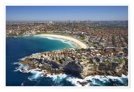Premiumposter Aerial view of Bondi Beach