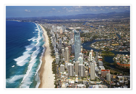 Premiumposter  Surfer's Paradise from the air - David Wall
