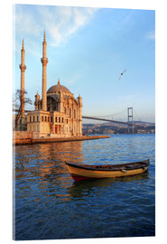 Akrylglastavla  Rowboat and Ortakoy Mosque - Ali Kabas