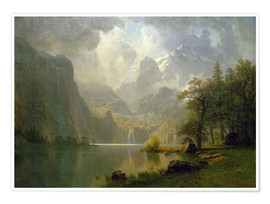 Premiumposter  In the Mountains - Albert Bierstadt