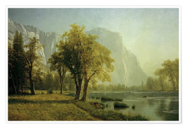 Premiumposter  El Capitan, Yosemite Valley - Albert Bierstadt