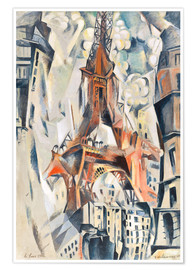 Premiumposter  The Eiffel Tower - Robert Delaunay