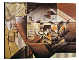 Aluminiumtavla  Composition with clock - Juan Gris
