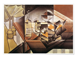 Poster  Composition with clock - Juan Gris