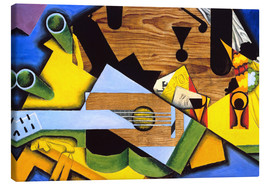 Canvastavla  Still Life with Guitar - Juan Gris