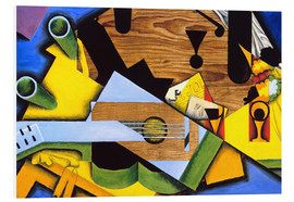 PVC-tavla  Still Life with Guitar - Juan Gris