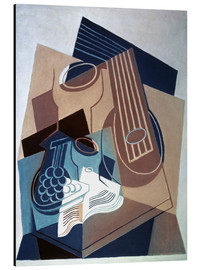 Aluminiumtavla  Mandolin and grapes - Juan Gris