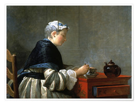 Premiumposter Woman drinking tea