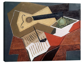 Canvastavla  Guitar and fruit bowl - Juan Gris