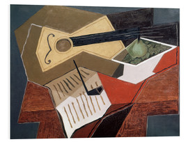 PVC-tavla  Guitar and fruit bowl - Juan Gris