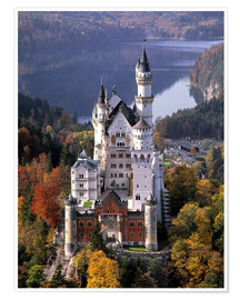 Poster  Neuschwanstein and Alpsee in Bavaria, Germany - Ric Ergenbright