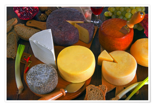 Premiumposter Cheese plate in Tuscany