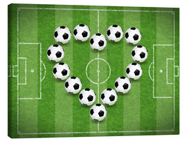 Canvastavla  Love for Soccer - TAlex