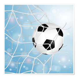 Premiumposter Soccer Ball in Net