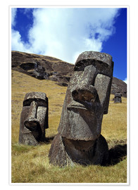 Premiumposter  Moai on Easter Island - Ric Ergenbright