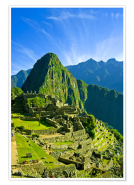 Premiumposter  Inca city Machu Picchu - Jerry Ginsberg