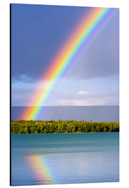 Aluminiumtavla  Rainbow on Lake Naknek - Jerry Ginsberg