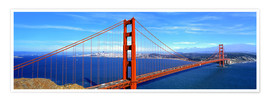 Premiumposter  Golden Gate bridge from above - Ric Ergenbright
