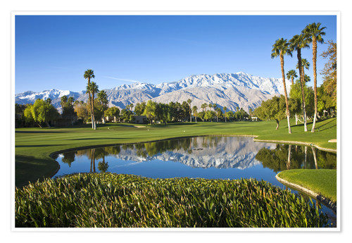 Premiumposter Golf course in Palm Springs
