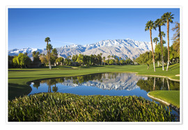 Premiumposter  Golf course in Palm Springs - Walter Bibikow
