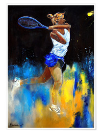 Premiumposter  Tennis player - Pol Ledent