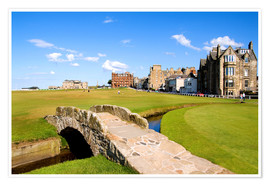 Premiumposter  Golf course in St. Andrews - Bill Bachmann
