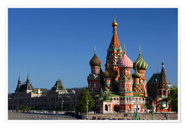 Premiumposter  St. Basil's Cathedral in Moscow - Walter Bibikow