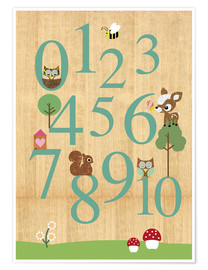 Premiumposter  Educational Numbers - learn to count - GreenNest