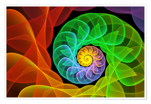 Premiumposter Fractal 'The colors and the light'