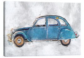 Canvastavla  Oldtimer - blue - LoRo-Art